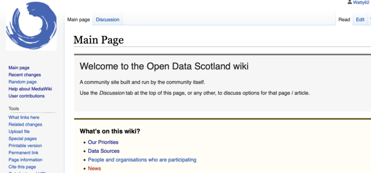 How does the Open Data Community share experience, knowledge, best practice, examples?
